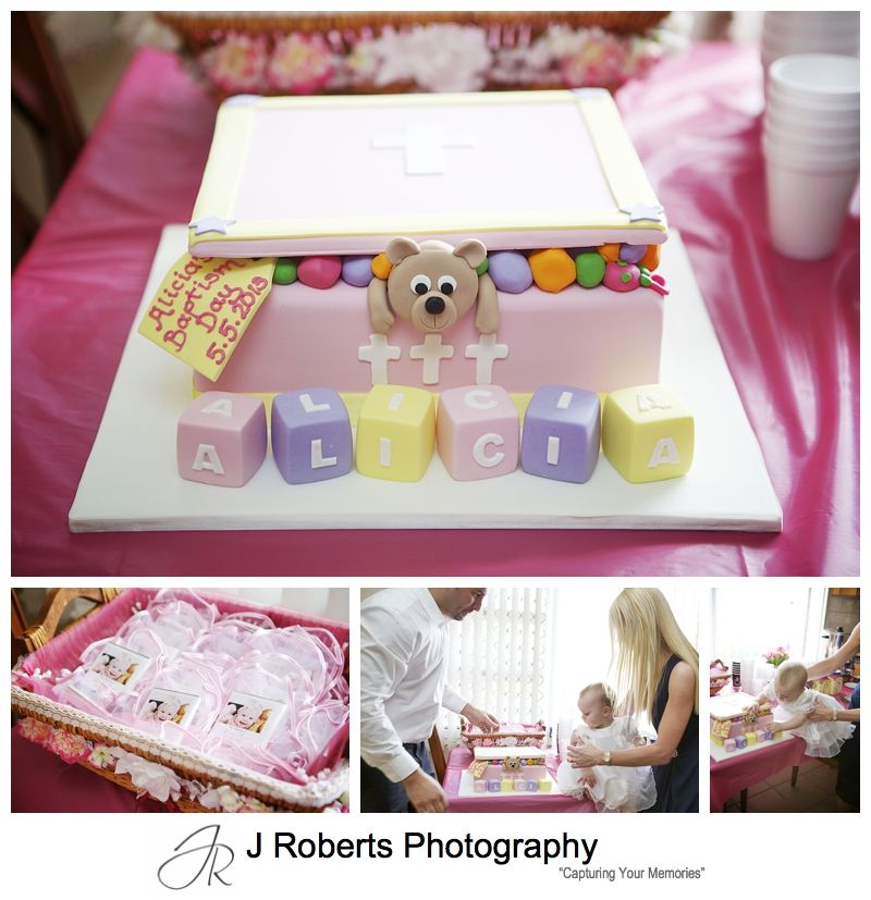 Baby girls christening cake - sydney baptism photography