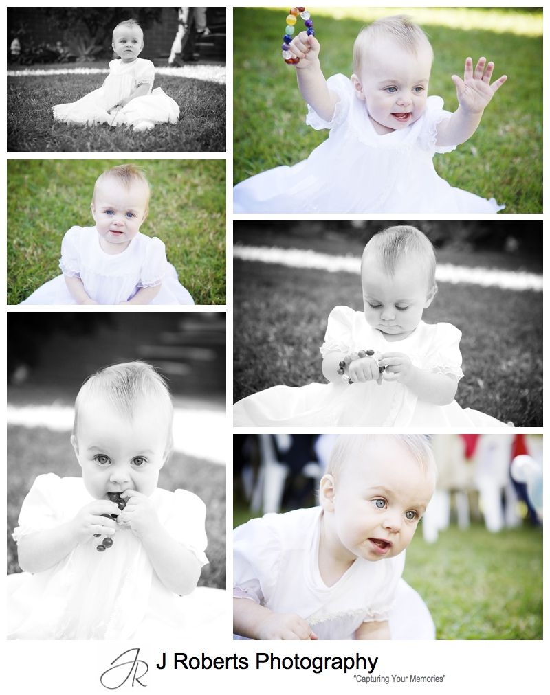 Portraits of a baby girl in her baptism robes - sydney baptism photography