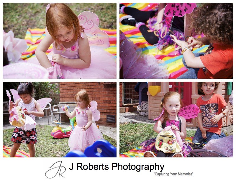 playing pass the parcel at childs birthday party - sydney party photography