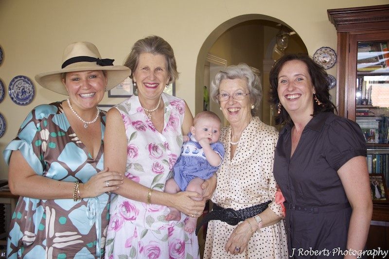 Godmothers at baby christening - christening photography