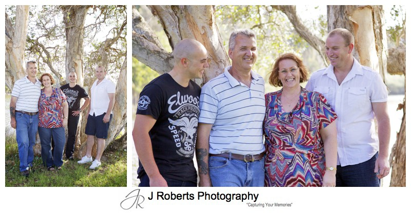 adult family portrait centennial park - family portrait photography - sydney