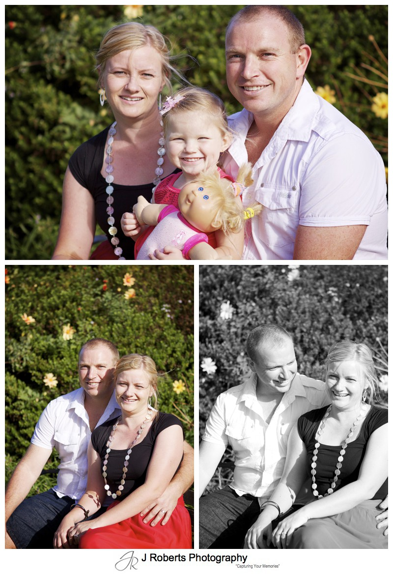 family portrait in centennial park - family portrait photography - sydney