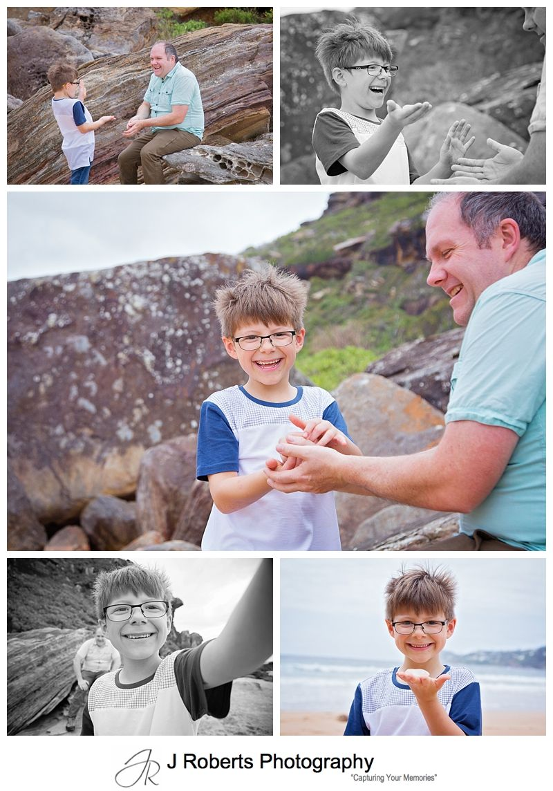 Docu Style Family portraits on an Adventure at Palm Beach and Barren Joey Headland