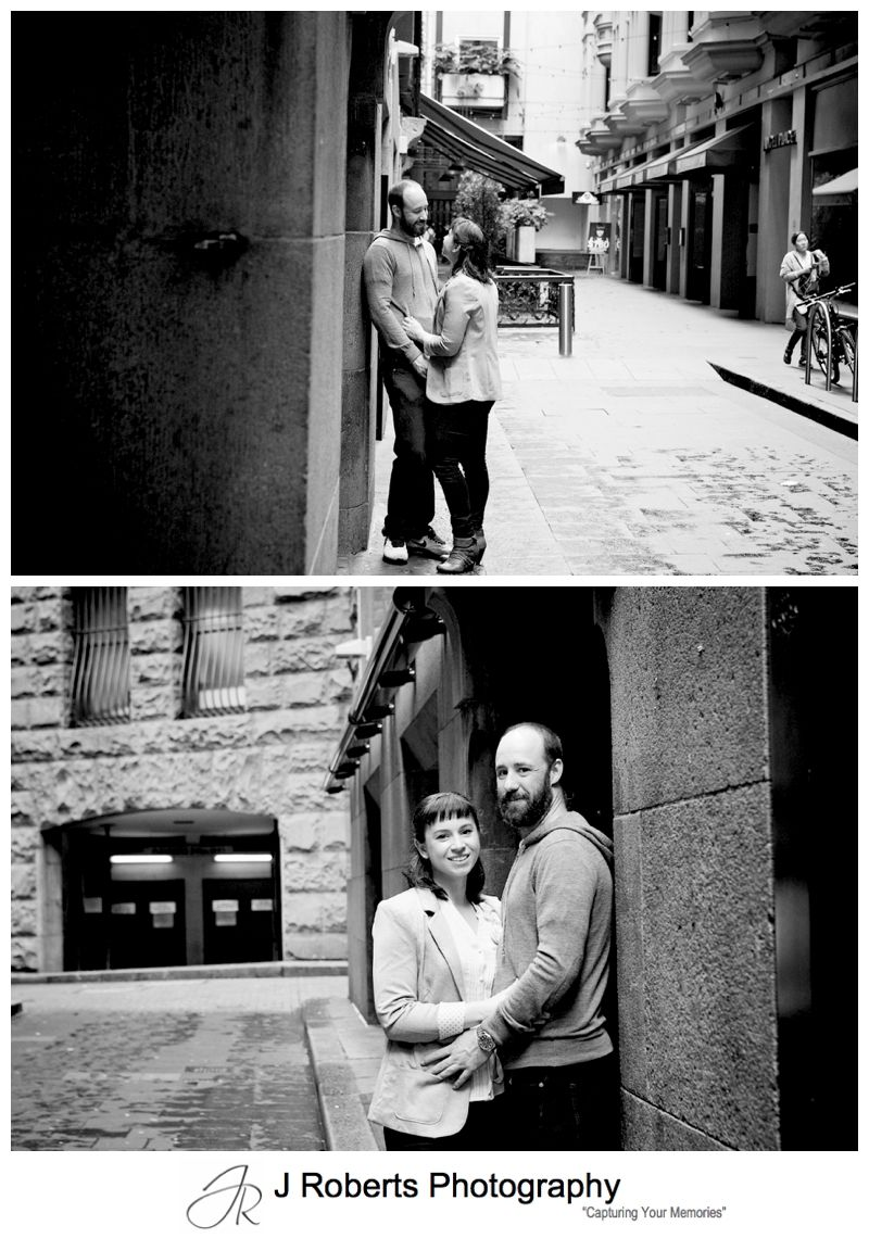 Engagement Portrait Photography Sydney Angel Place In Sydney City