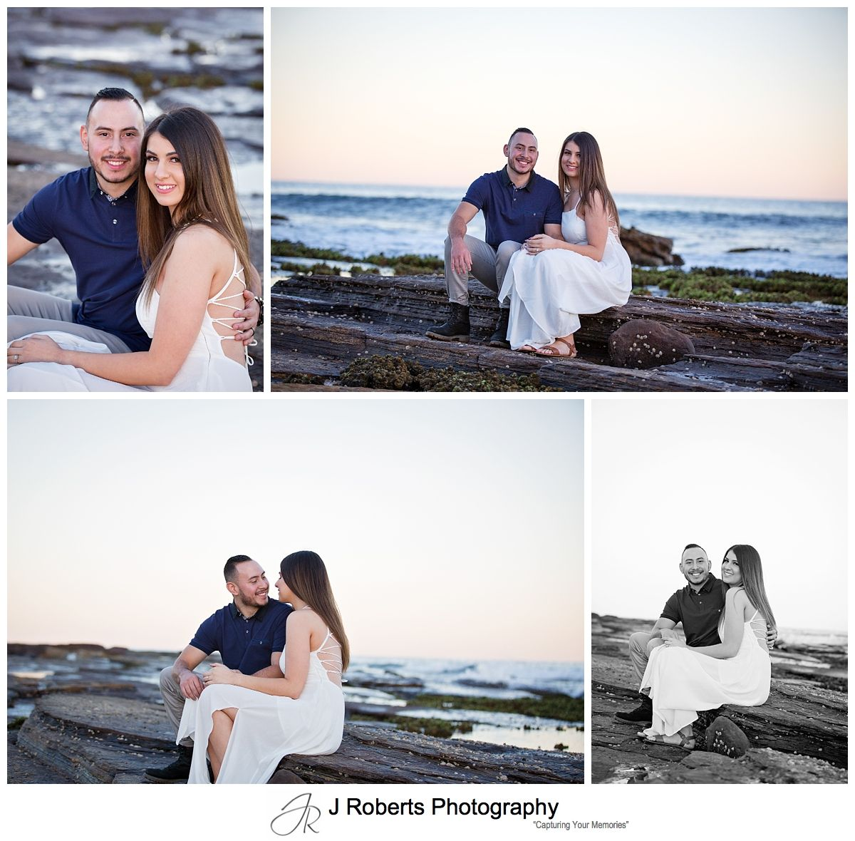 Engagement Portrait Photography Sydney during golden hour at North Narrabeen Rockpool