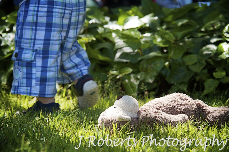 Little boys favourite toy monkey - family portrait photography sydney