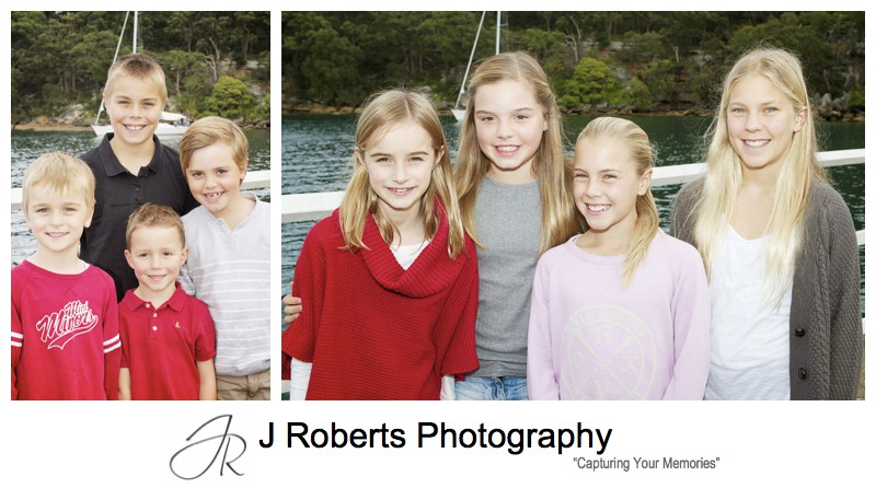 All the girls and all the boys - sydney extended family portrait photography