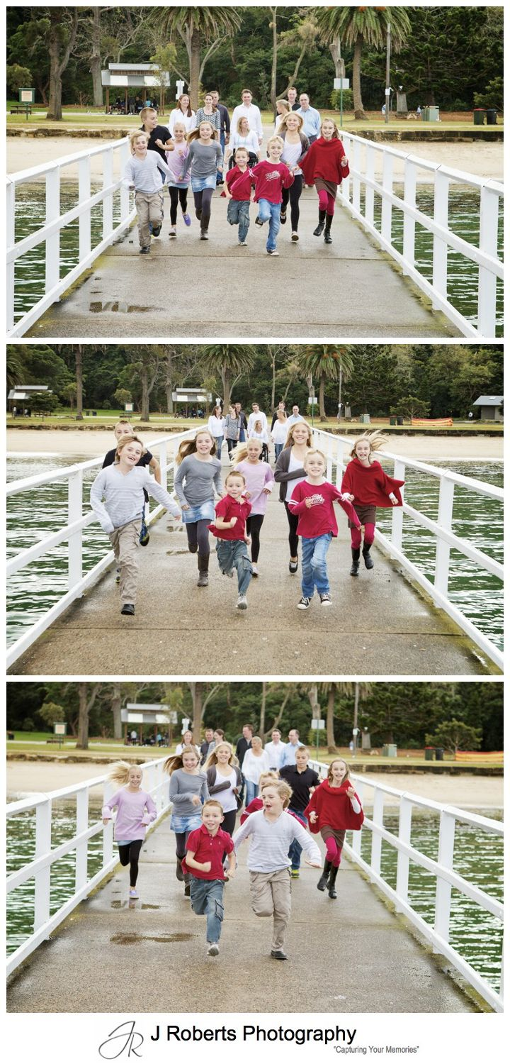 Extended family portrait walking along pier at clifton gardens mosman - sydney family portrait photography