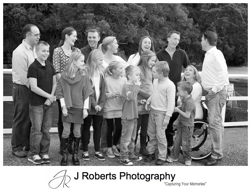 B&W multi generation family portrait - sydney family portrait photography