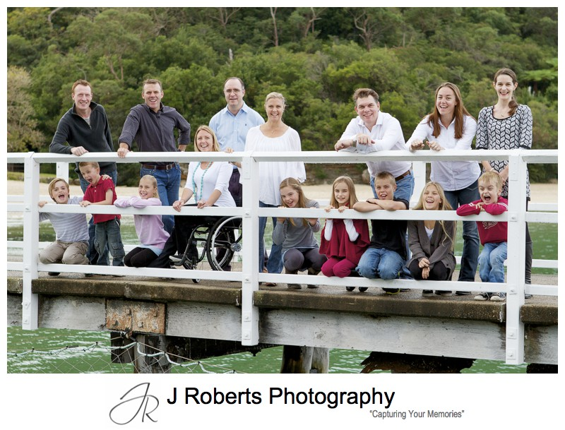 Family on the pier at Clifton Gardens Mosman - sydney family portrait photography