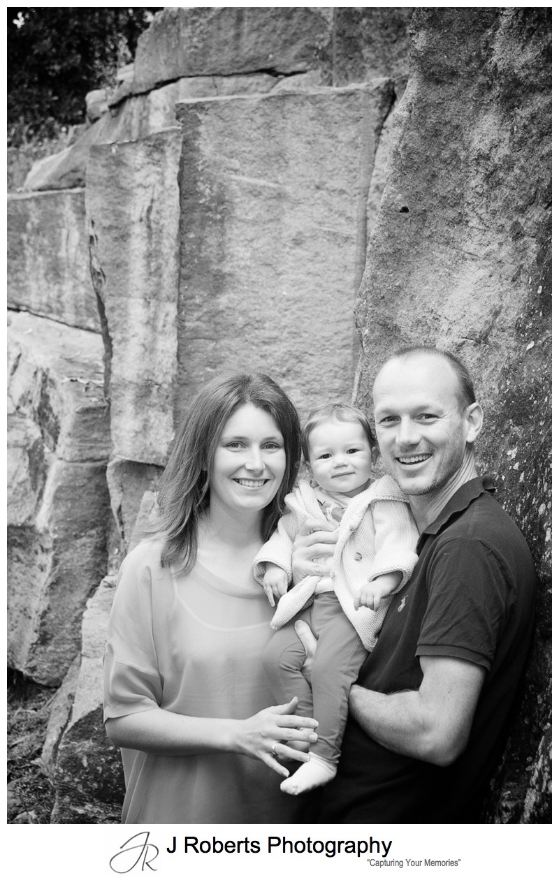 Family portrait with sydney sandstone - family portrait photography balmain