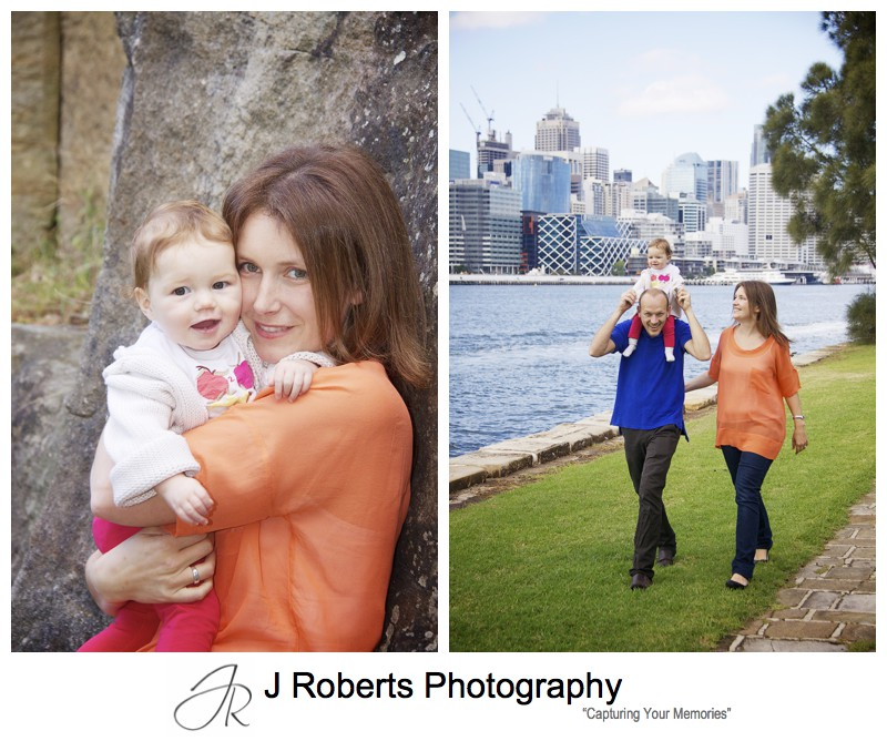 family portraits in east balmain park - family portrait photography sydney