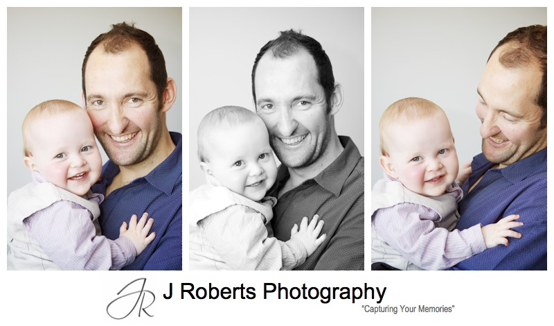 Little boy with his daddy - family portrait photography sydney
