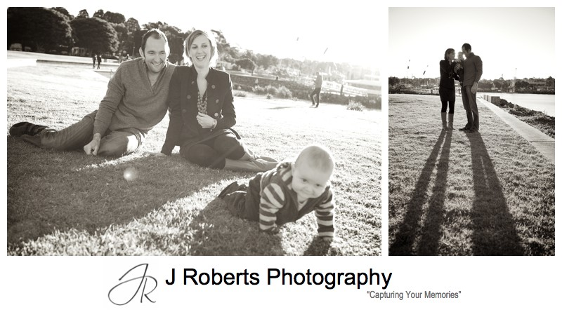 Sepia portraits of family in Blackwattle park - family portrait photography sydney