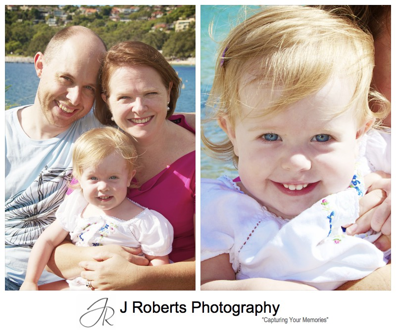 Portrait of a couple with a little girl - family portrait photography sydney