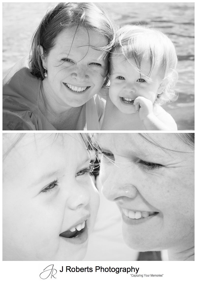 B&W portraits of mother and daughter - family portrait photography sydney
