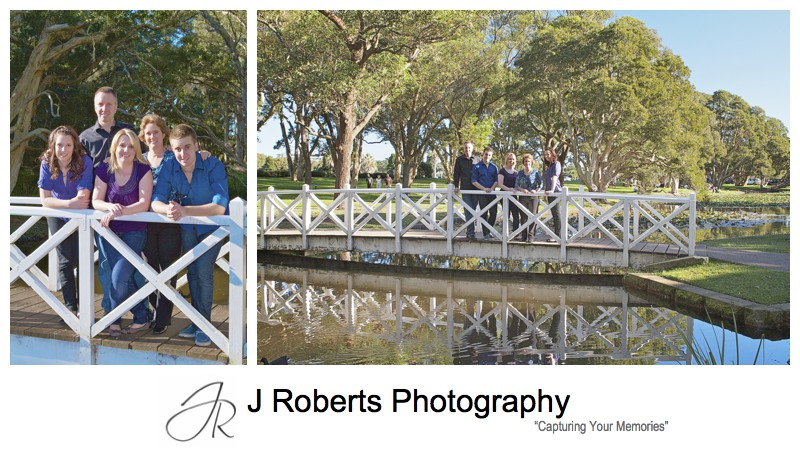 Family portrait at the lily pond Centennial Park - family portrait photography sydney
