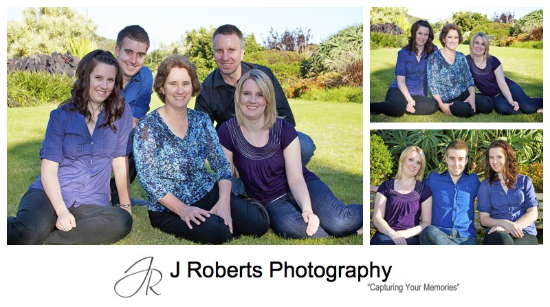 family of 5 portrait - family portrait photography sydney