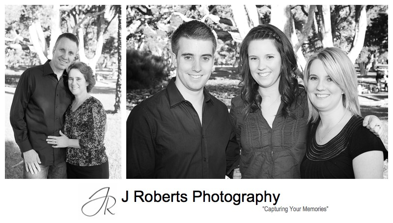 B&W couples portrait - family portrait photography sydney