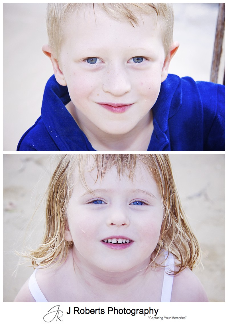 Portrait of a little boy and girl - family portrait photography sydney