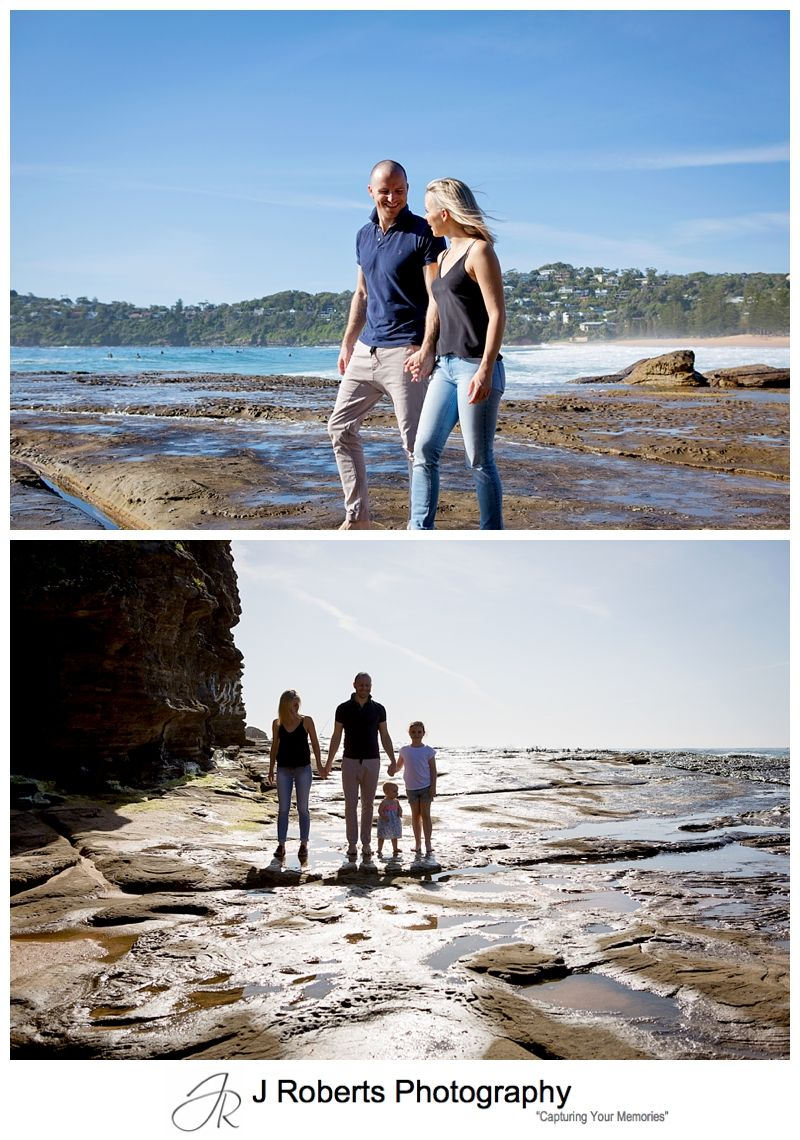 Family Portrait Photography Sydney Early morning Whale Beach Using a Gift Voucher