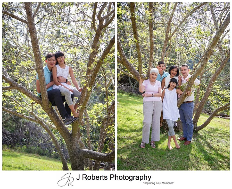 Family Portrait Photography Sydney Family Visiting from Overseas Echo Point Reserve Roseville Chase