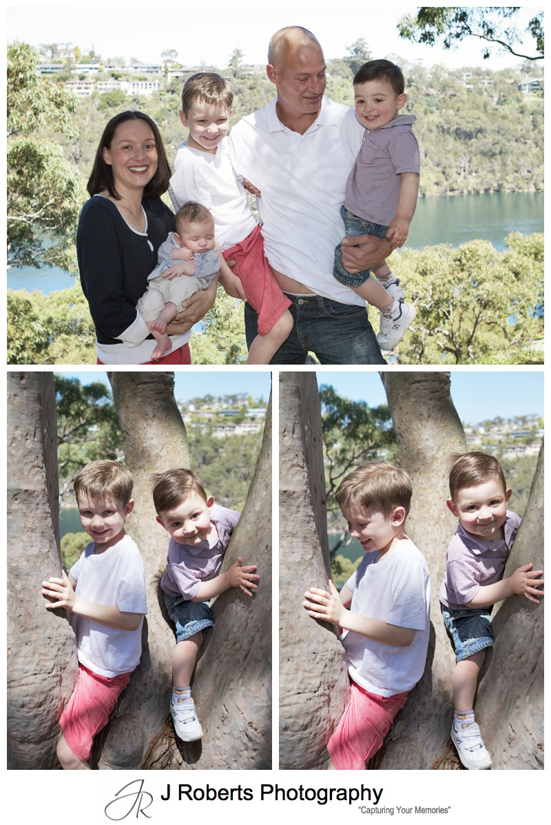 Family portrait in Killarney Heights - sydney family portrait photographer