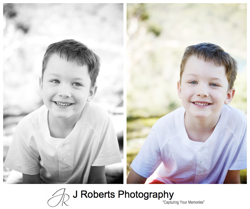 Portraits of a young boy - sydney family portrait photography