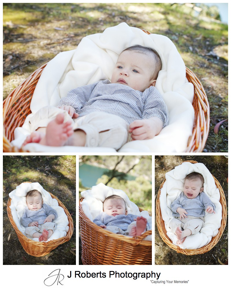 BABY girl in a basket - sydney baby portrait photography