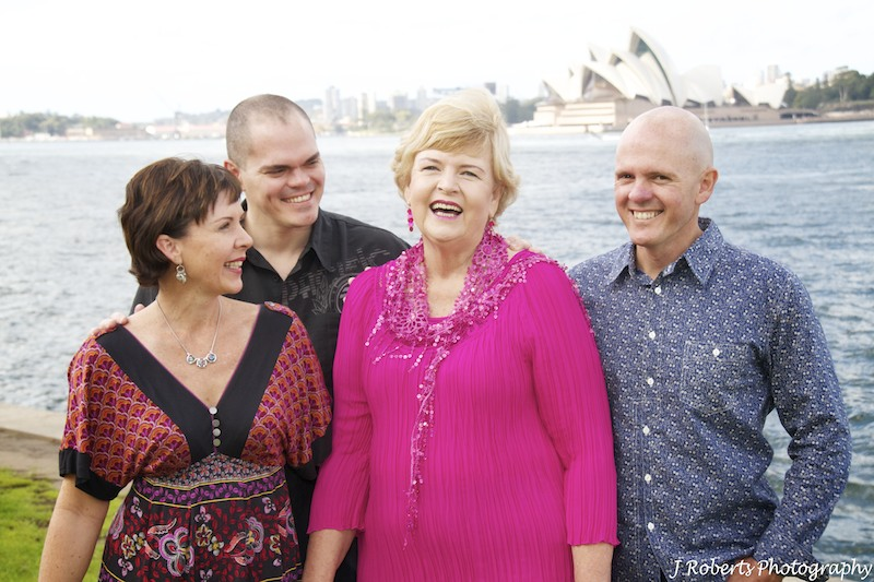 Mother and 3 adult children - family portrait photography sydney
