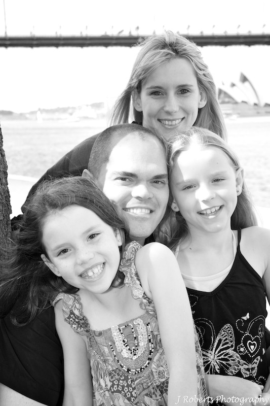 Family with grandmother - family portrait photography sydney