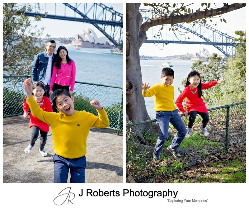 Family Portrait Photography Sydney for Overseas Visitors at Blues Point Reserve