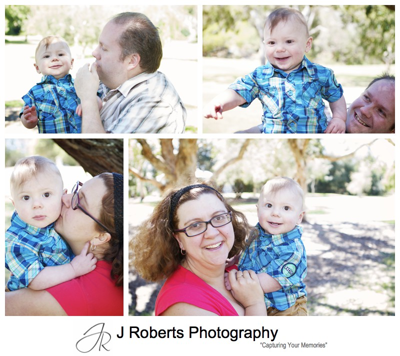 Little boy laughing with his parents - sydney family portrait photographer