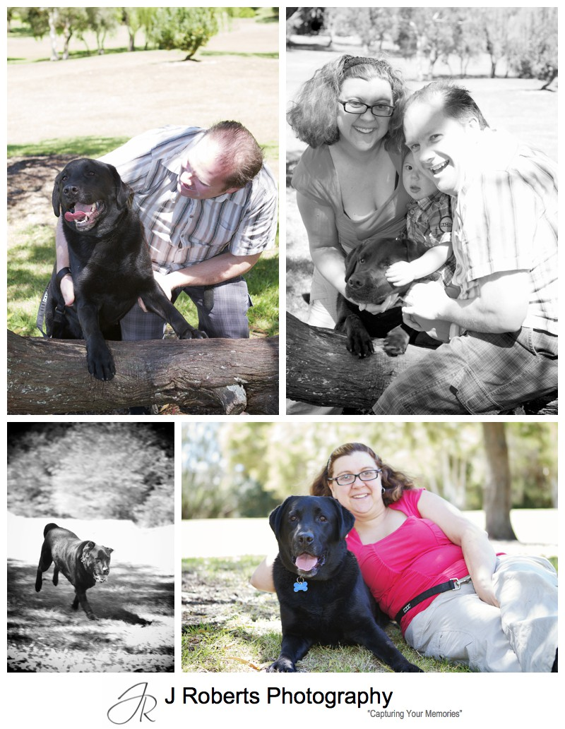 Family portraits with the family dog - sydney family portrait photographer