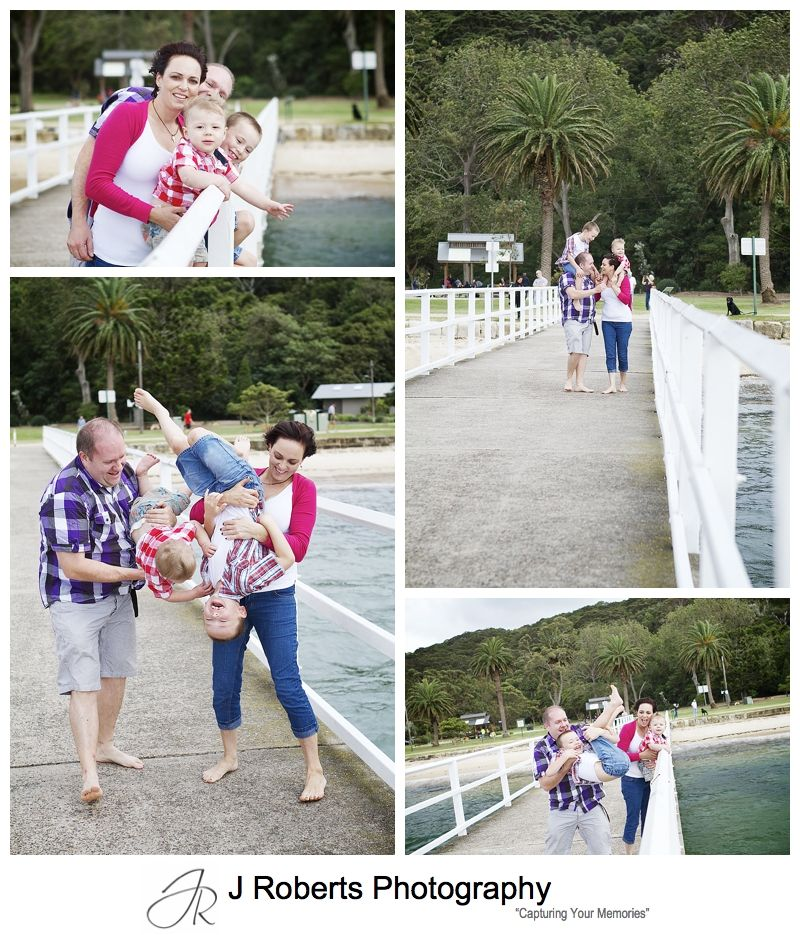 Family fun on the pier at clifton gardens mosman - sydney family portrait photographer