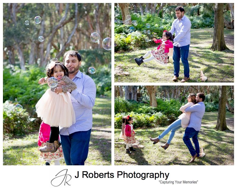 Family Portrait Photography in Sydney Winter Light at Centennial Park Sydney