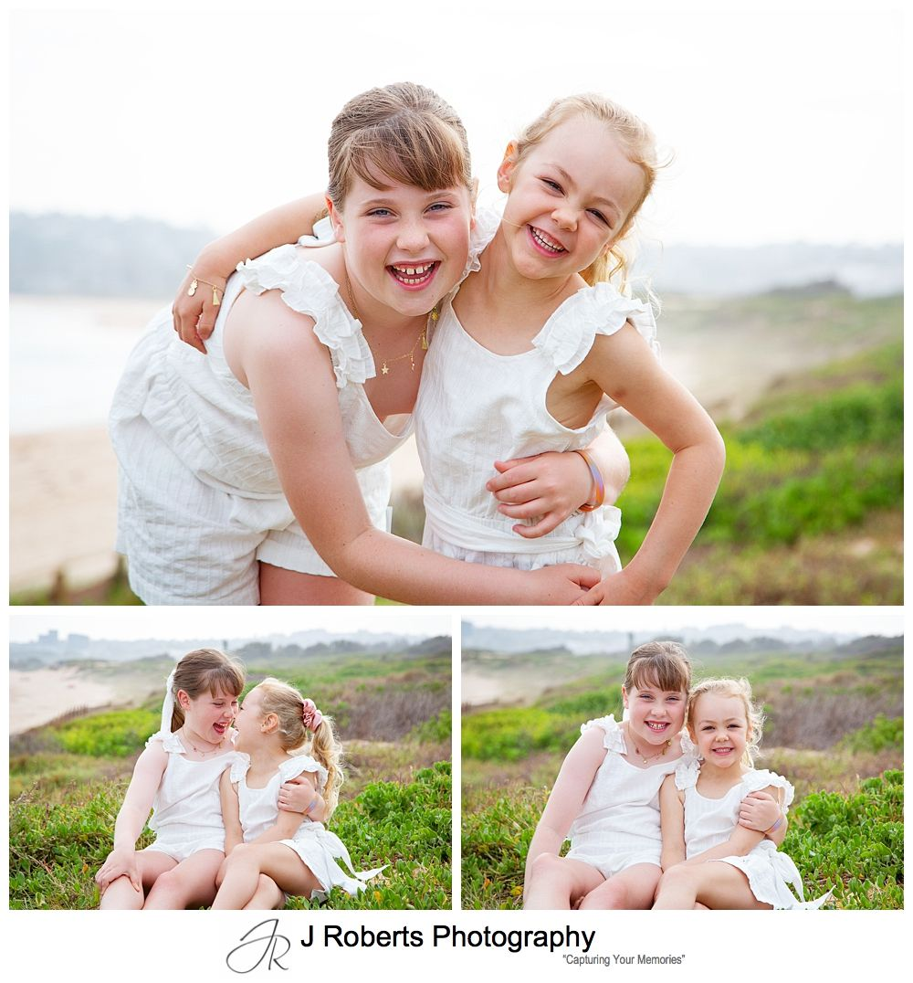 Family portrait photography on Sydneys northern beaches at Long Reef Beach