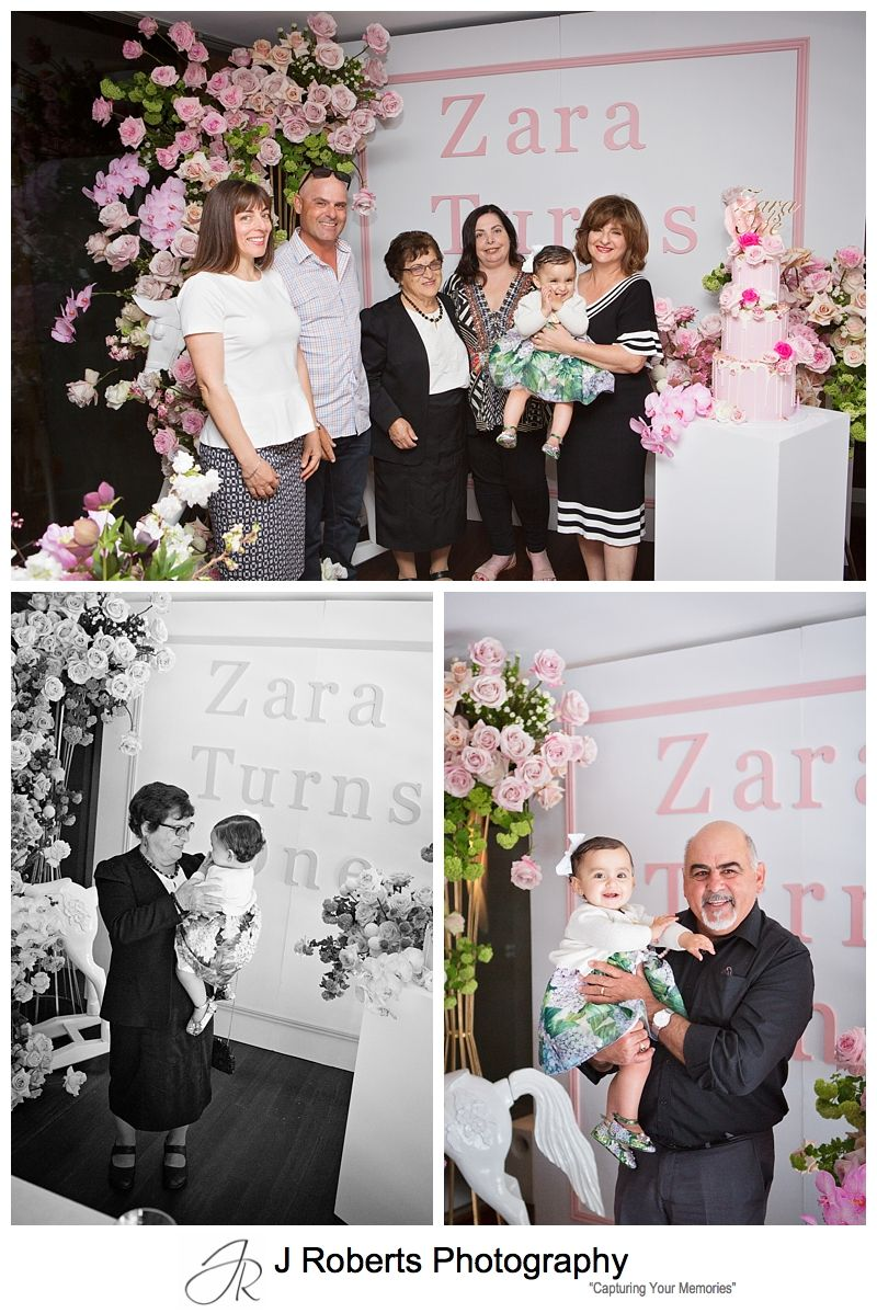 First Birthday Party Photography Sydney Zara Turns One at Otto Ristorante Wolloomooloo with beautiful pink floral theming
