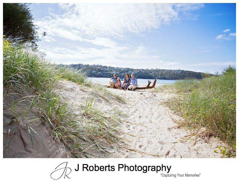 Fun Family portrait photography Sydney at Chinamans Beach Mosman on a beautiful Autumn Day