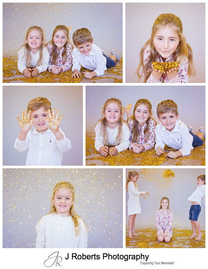 Glitter Mini Portrait Photography Sessions Sydney Lot of Fun with Glitter