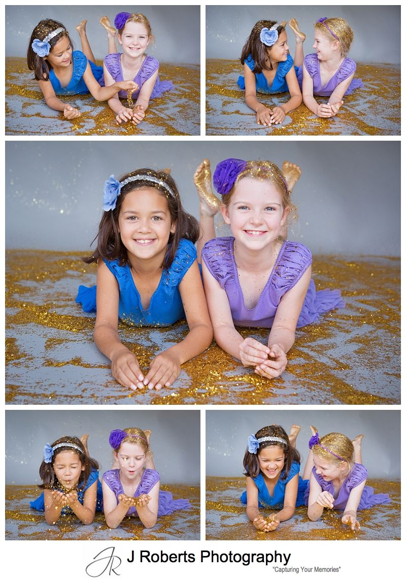 Glitter Mini Portrait Sessions Sydney Lots of Fun with Glitter