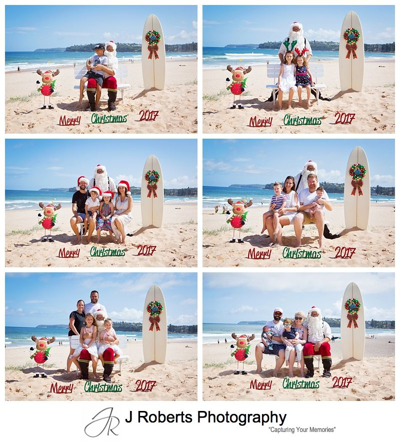 Last Aussie Santa Photo Sessions for 2017 on the beach at Long Reef