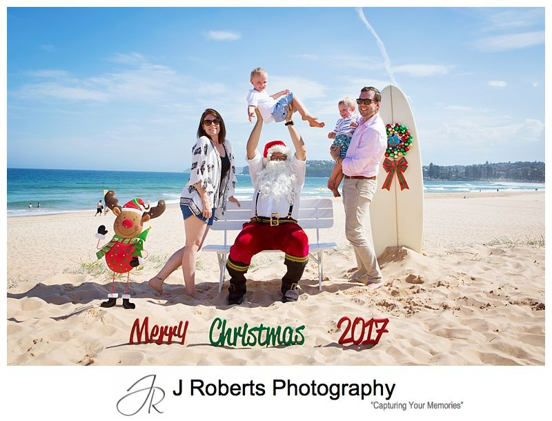 Long Reef Beach Santa Photos Sydney Aussie Santa in the Heat