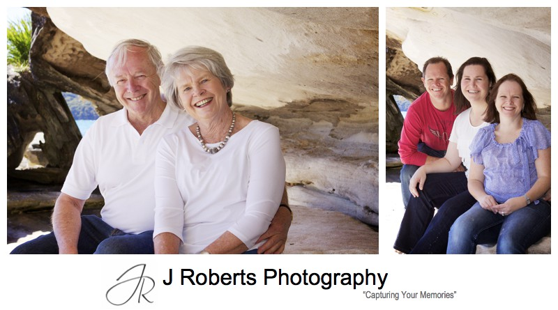 Grand parents with their children - family portrait photography sydney