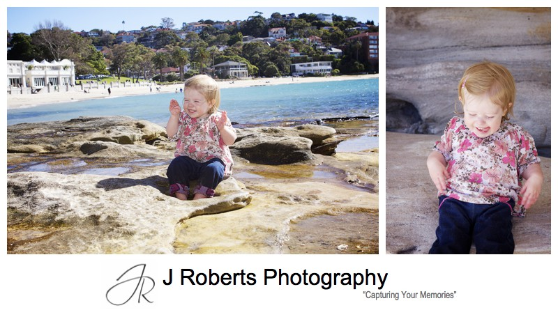 Portraits of a little girl on balmoral beach - family portrait photography sydney