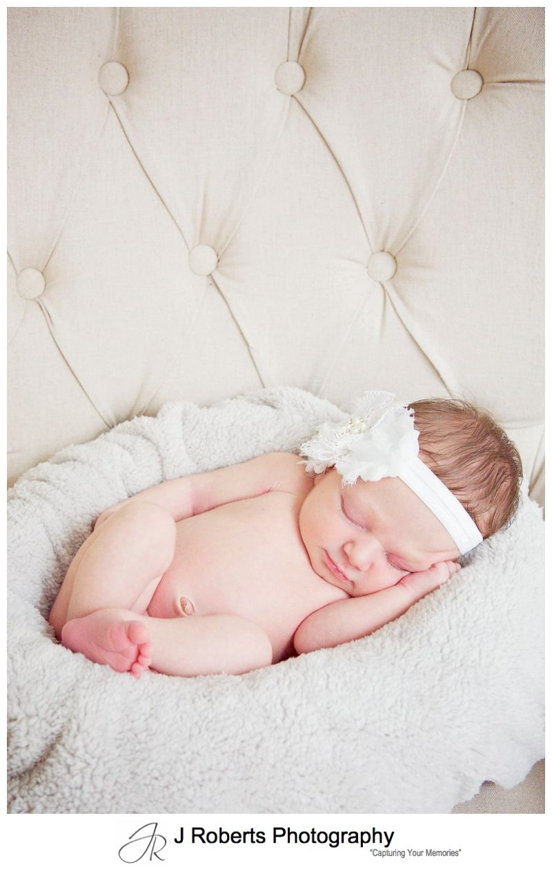 Newborn Baby Portrait Photography Sydney Family Home Lane Cove Isla 5 Days Old