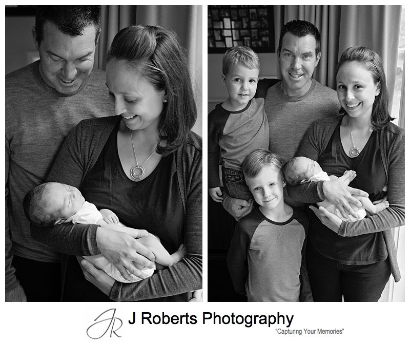 Newborn Baby Portrait Photography Sydney Family Home Pymble