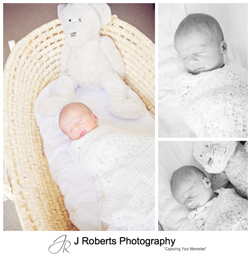 Newborn Baby Portrait Photography Sydney in Family Home St Leonards