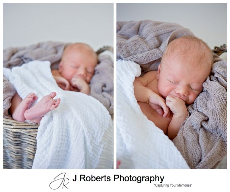 Newborn Baby Portrait Photography Sydney in the Family home Naremburn