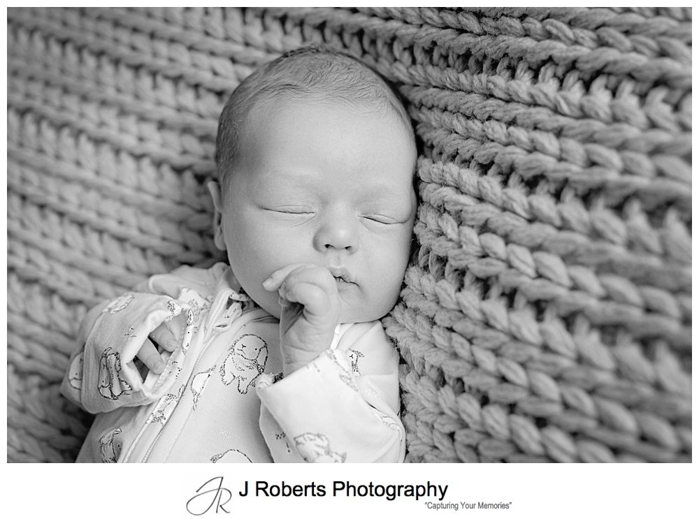 Newborn Baby Portrait Photography Sydney in the family home Manly